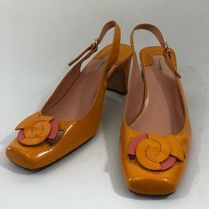Vintage 1970's style Orange Heel